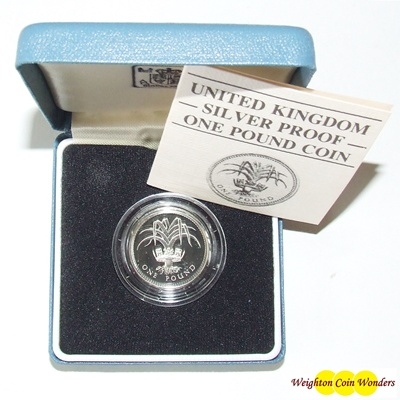 1985 Silver Proof £1