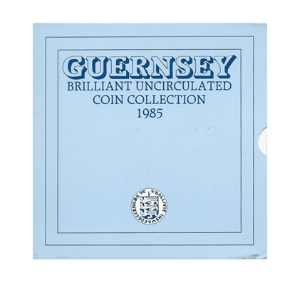 1985 BU 7 Coin Collection - Guernsey