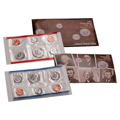 1985 United States Mint Uncirculated Coin Set (P & D)