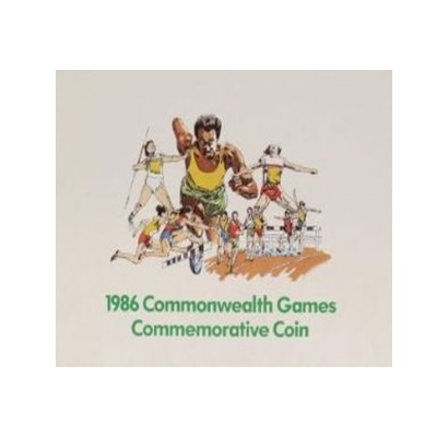 1986 BU £2 Coin Pack - Commonwealth Games - Dairy Crest
