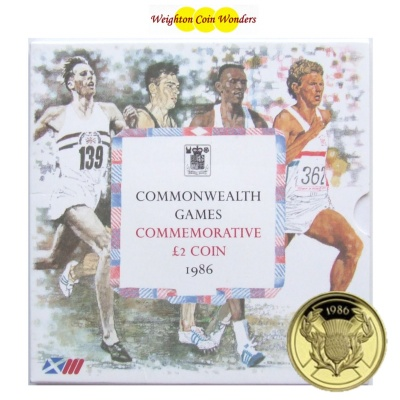 1986 £2 BU Coin Pack - Commemorating Commonwealth Games