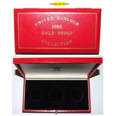 1986 Gold Proof 3 Coin Box (No Coins)