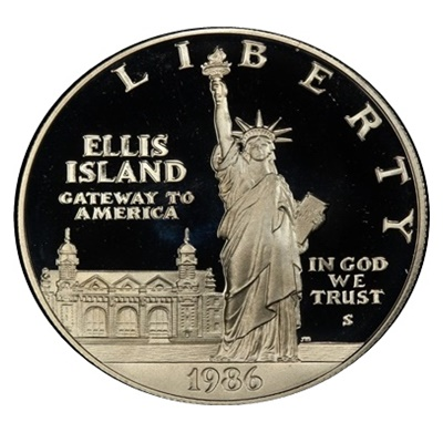 1986 Statue of Liberty Silver Proof $1 (Capsule)