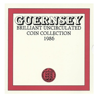 1986 BU 7 Coin Collection - Guernsey