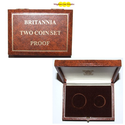 1980's Gold Proof Britannia 2 Coin Box (No Coins)