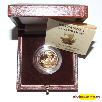 1987 Gold Proof 1/4 oz Britannia