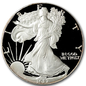 1987 USA 1oz Silver Proof EAGLE