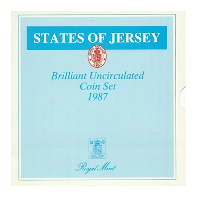 1987 BU 7 Coin Collection - States of Jersey
