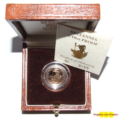 1988 Gold Proof 1/10th oz Britannia