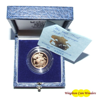 1985 Gold Proof 1/2 Sovereign
