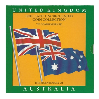 1988 BU 7 Coin Collection - Bicentenary of Australia