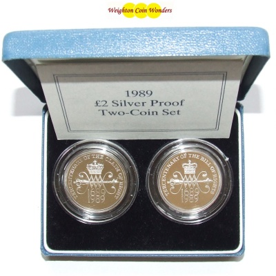 1989 Silver Proof 2 Set