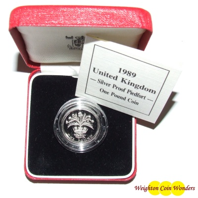 1989 Silver Proof PIEDFORT £1
