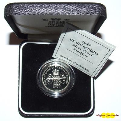 1989 Silver Proof PIEDFORT 2