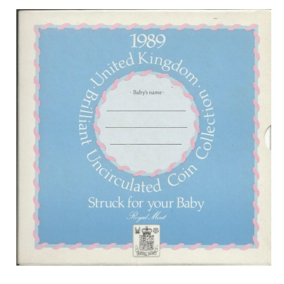 1989 Baby Gift Set - BU Coin Collection