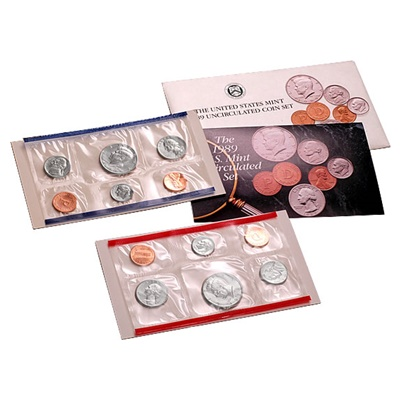 1989 United States Mint Uncirculated Coin Set (P & D)