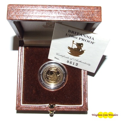 1990 Gold Proof 1/10th oz Britannia