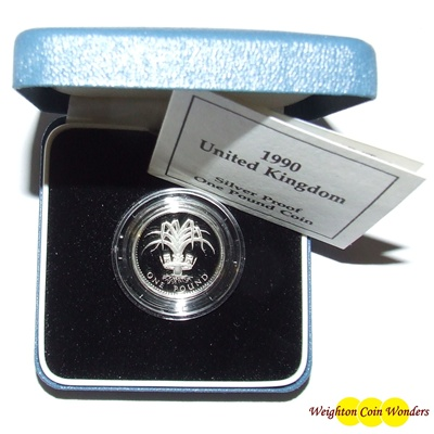 1990 Silver Proof £1