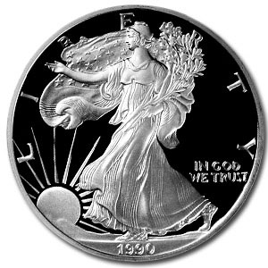 1990 USA 1oz Silver Proof EAGLE