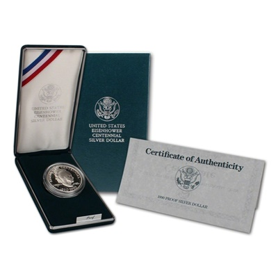 1990 Eisenhower Centennial Silver Proof $1