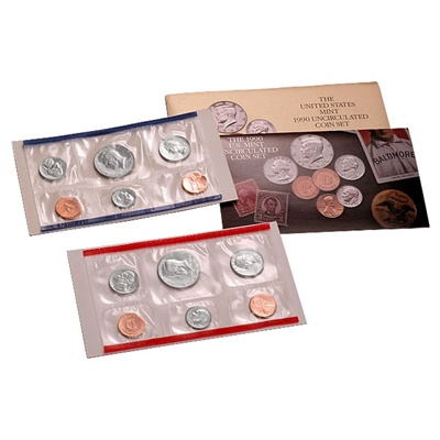 1990 United States Mint Uncirculated Coin Set (P & D)