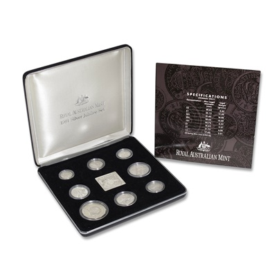 1991 Masterpieces in Silver Eight Coin Collection