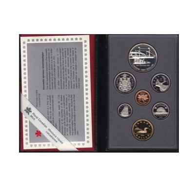 1991 RCM Proof Set - Steamer Frontenac