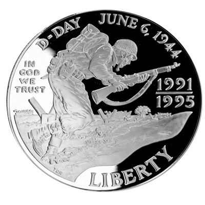 1991-1995 World War II Silver Proof $1 (1993) (Capsule)