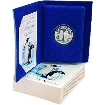 1992 $10 Silver Proof - Emperor Penguin