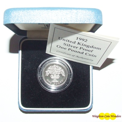 1992 Silver Proof £1