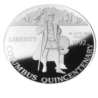 1992 Columbus Silver Proof $1 (Capsule)