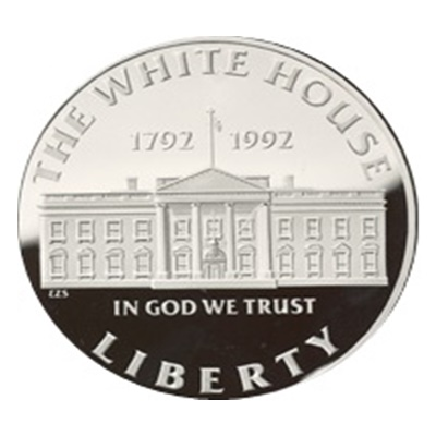 1992 White House Silver Proof USA $1 (Capsule)