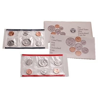 1992 United States Mint Uncirculated Coin Set (P & D)
