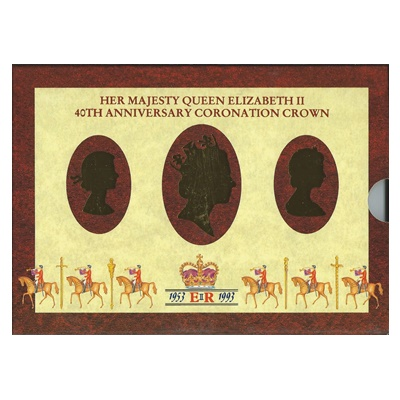 1993 BU £5 Crown Pack – HM QEII 40th Anniversary Coronation