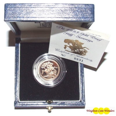 1993 Gold Proof ½ Sovereign
