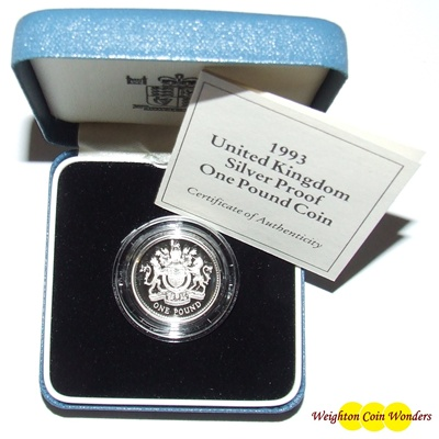 1993 Silver Proof £1