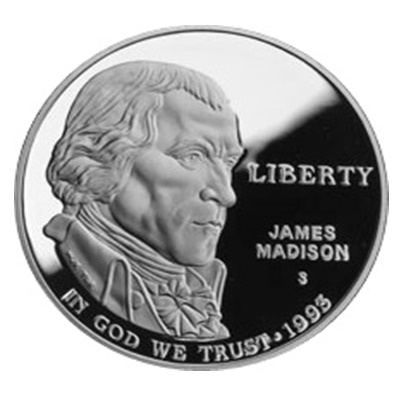 1993 Bill of Rights Commemorative Silver Proof $1 (Capsule)