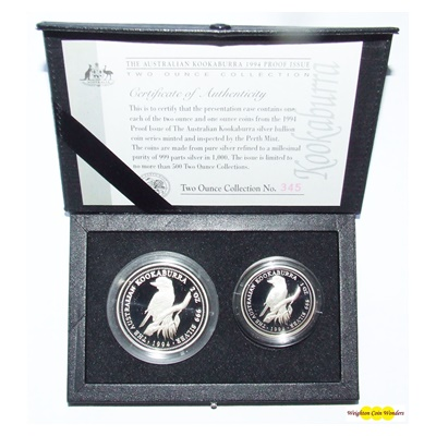 1994 Kookaburra - Proof Issue 2 Coin Collection