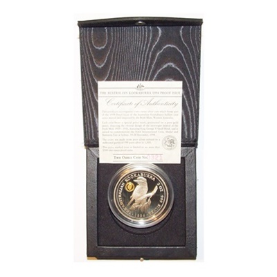1994 2oz Kookaburra - Proof Issue - George V Privy