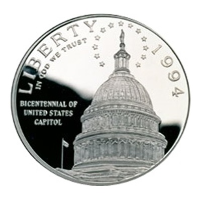 1994 Capitol Bicentennial Silver Proof $1 (Capsule)