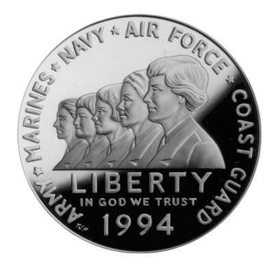 1994 Women in Military Service Silver Proof $1 (Capsule)