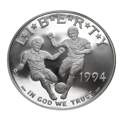 1994 World Cup Silver Proof $1 (Capsule)