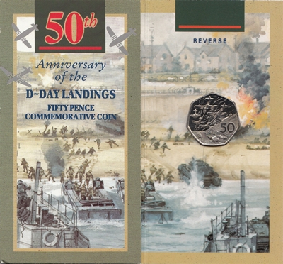 1994 BU 50p Coin - 50th Anniversary D-Day Landings Folder