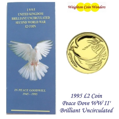 1995 £2 BU Coin Pack - End of Second World War - Dove of Peace