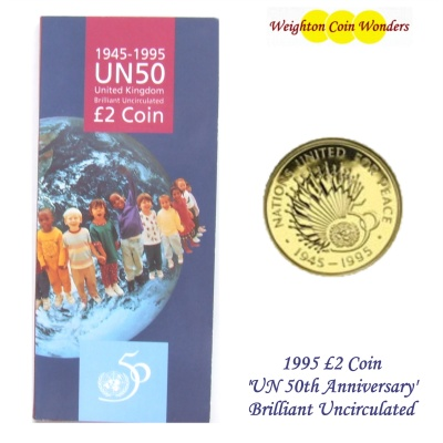 1995 BU £2 Coin Pack - 50th Anniversary of the United Nations