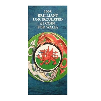 1995 BU £1 Coin – Welsh Dragon - Presentation Pack