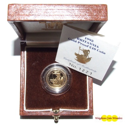 1995 Gold Proof 1/10th oz Britannia