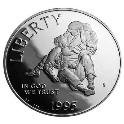 1995 Civil War Battlefields Silver Proof $1 (Capsule) - Click Image to Close