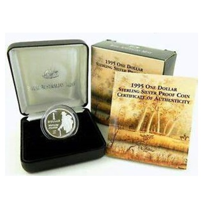 1995 $1 Silver Proof Coin – Waltzing Matilda (1895-1995)