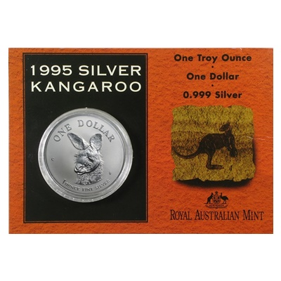 1995 1oz Silver KANGAROO (Display Card)
